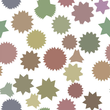 Seamless color abstract star geometric pattern generative art background. Vector illustration graphic.  イラスト・ベクター素材