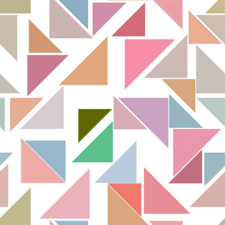 Seamless abstract conceptual geometric triangle lines pattern. Good for web page, graphic design, catalog, texture or background. Vector illustration graphic. Illustration
