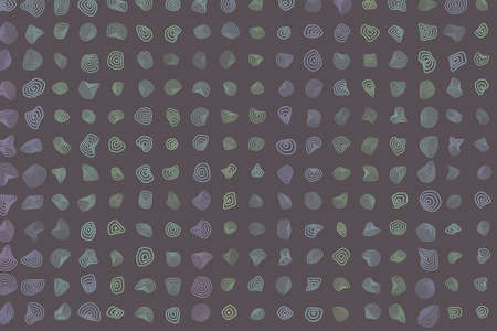 Color abstract rounded shapes geometric pattern generative art background. Vector illustration graphic.