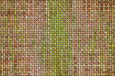 Artistic woven mat pattern rattan background abstract.