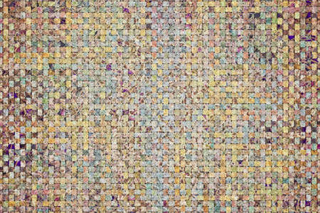 Illustrations of woven mat pattern. Good for web page, wallpaper, graphic design, catalog, texture or background. 版權商用圖片