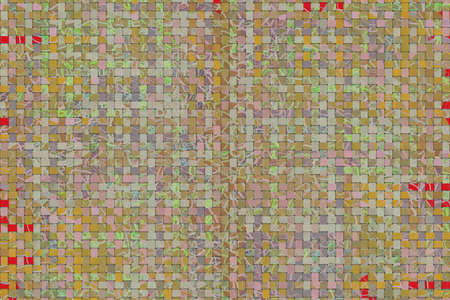 Abstract woven mat pattern generative art background.