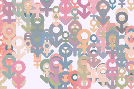Abstract sign of male or female. Good for web page, wallpaper, graphic design, catalog, texture or background. Cartoon style vector.