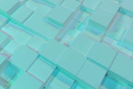 Block or cube, geometric structure, shape composition. For web page, wallpaper, graphic design, catalog, texture or background. Colorful 3D rendering.