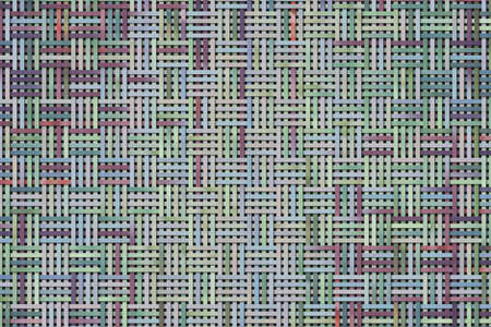 Abstract illustrations of woven mat, conceptual. For design background.