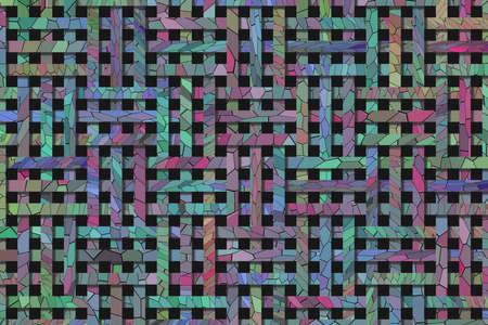 Artistic woven mat rattan background abstract.