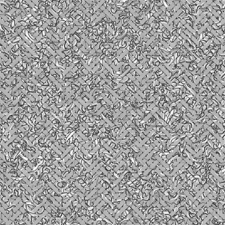 Abstract conceptual virtual geometric pattern woven mat or rattan. For web page, graphic design, catalog, texture or background. Gray or black and white b&w