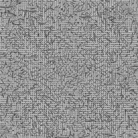 Woven mat or rattan abstract, virtual geometric pattern texture, backdrop or background. Gray or black and white b&w