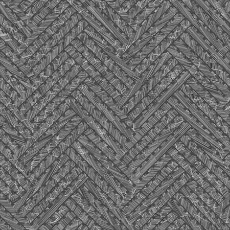 Gray or black and white b&w Woven mat or rattan abstract, virtual geometric pattern texture, backdrop or background.