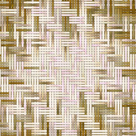 Abstract conceptual virtual geometric pattern woven mat or rattan. For web page, graphic design, catalog, texture or background.