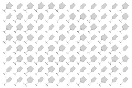 Bunch of transparent empty glasses on plain background. 3D rendering images.