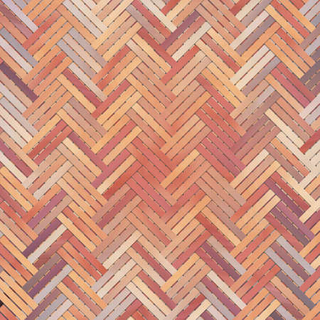 Woven mat or rattan illustrations background abstract, virtual geometric pattern texture. Reklamní fotografie