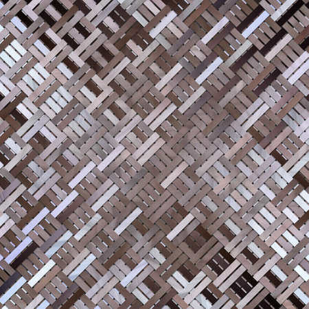 Illustrations of woven mat or rattan, virtual geometric pattern. For web page, wallpaper, graphic design, catalog, texture or background.