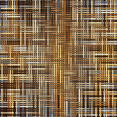 Abstract virtual geometric pattern woven mat or rattan, artistic for graphic design, catalog, textile or texture printing & background.
