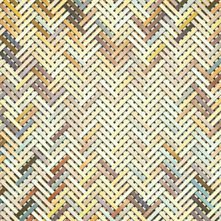 Woven mat or rattan abstract, virtual geometric pattern texture, backdrop or background.