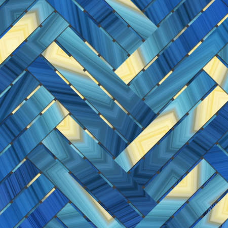 Artistic woven mat or rattan virtual geometric pattern background abstract. 写真素材