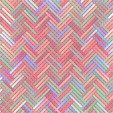 Conceptual background, virtual geometric pattern, woven mat or rattan for design catalog or texture. 版權商用圖片