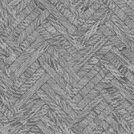 Gray or black and white b&w Decorative and virtual geometric pattern woven mat or rattan illustrations. For design texture & background.