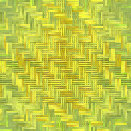Virtual geometric pattern. Abstract woven mat or rattan generative art background.