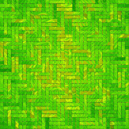 Virtual geometric pattern. Abstract woven mat or rattan generative art background.
