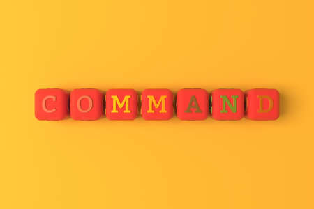 Command computer ICT keyword. Graphic resource, texture or background, for web page or design.