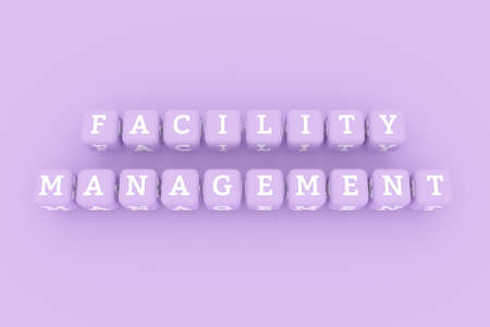 Facility Management, business keyword. Graphic resource, texture or background, for web page or design. Stock Photo