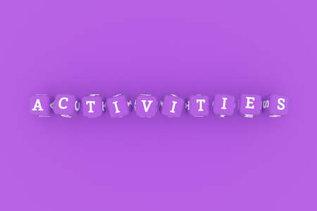 Activities computer ICT keyword. Graphic resource, texture or background, for web page or design.
