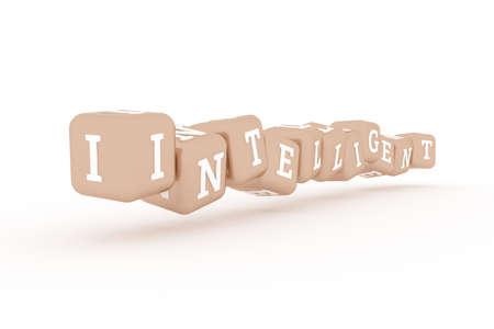 Intelligent, business keyword. Graphic resource, texture or background, for web page or design. Reklamní fotografie