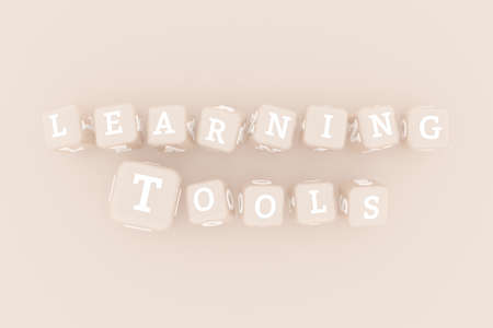Learning Tools, learning keyword. Graphic resource, texture or background, for web page or design.