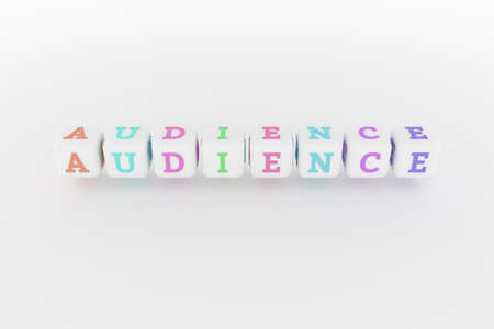 Audience computer ICT keyword. Graphic resource, texture or background, for web page or design.