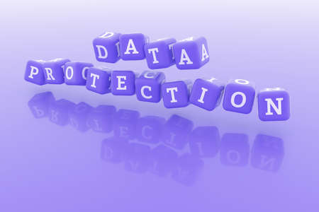 Data Protection, ict keyword. Graphic resource, texture or background, for web page or design.