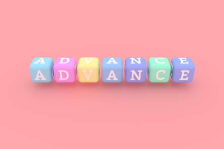 Advance computer ICT keyword. Graphic resource, texture or background, for web page or design.