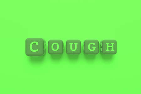 Cough, health keyword. Graphic resource, texture or background, for web page or design.