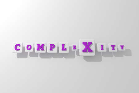 Complexity, business keyword. Graphic resource, texture or background, for web page or design.