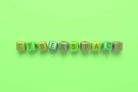 Cyberspace computer ICT keyword. Graphic resource, texture or background, for web page or design.