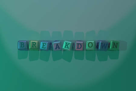 Breakdown computer ICT keyword. Graphic resource, texture or background, for web page or design. Reklamní fotografie