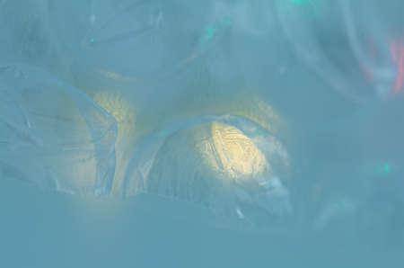 Dreamy blue background. Abstract blur bokeh light defocused. Reklamní fotografie - 124371035