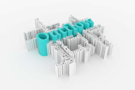 Outflow, finance keyword words cloud. For web page or design, as graphic resource, texture or background. 3D rendering. 스톡 콘텐츠