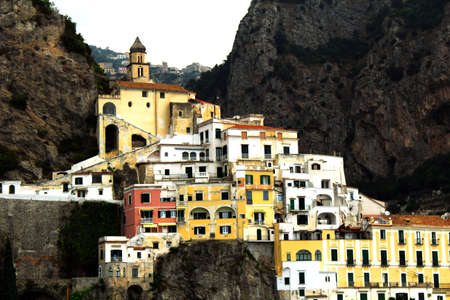 Amalfi Landscape - Italy Stock Photo