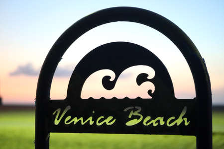 Venice Beach sign, Southern California