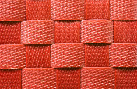 latticework: Red Weave plastic wicker pattern background