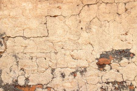 Fondo de la pared de la vendimia hormigón agrietado, viejo muro