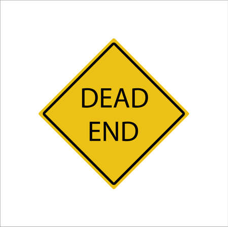 Dead end sign - vector illustration on white background.  イラスト・ベクター素材