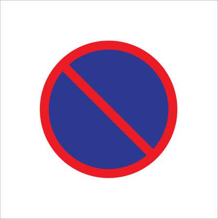 No parking sign vector illustration on white background.