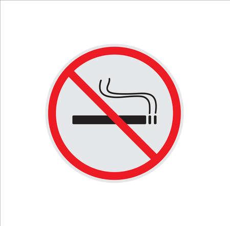No smoking sign vector illustration on white background. Illustration
