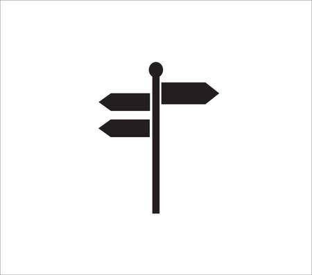 Signpost,vector illustration background Ilustração Vetorial