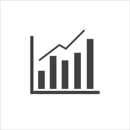 Infographic. Chart icon. Growing graph simbol, isolated on white background Illustration