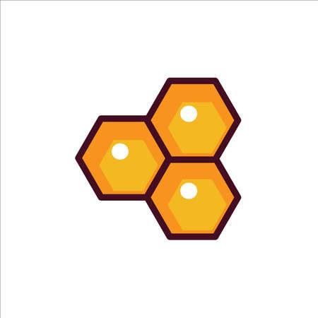 Honey hive illustration vector on white background 矢量图像