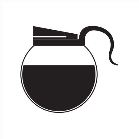 Coffee pot full of coffee vector