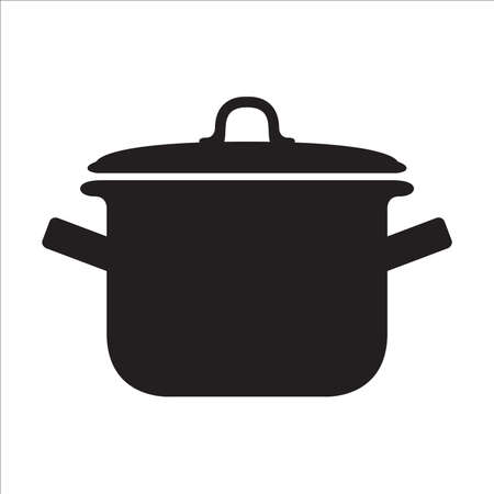 Pot icon vector on white background